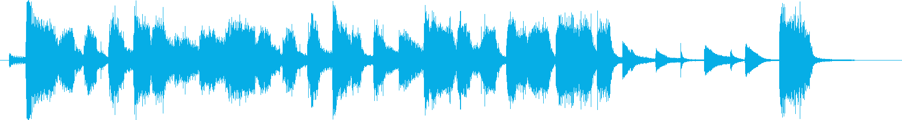 ビッグバンド ジャズ、番組エンディングの再生済みの波形
