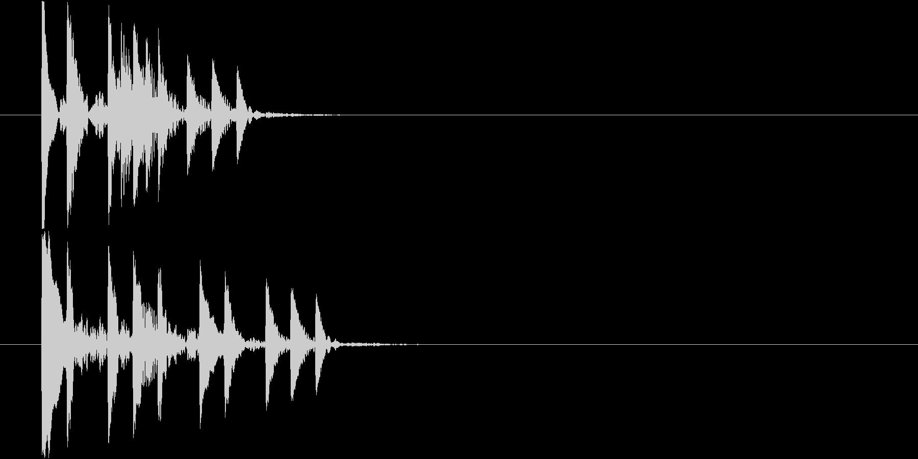 回復アイテム使用時やアイテム取得時の音の未再生の波形