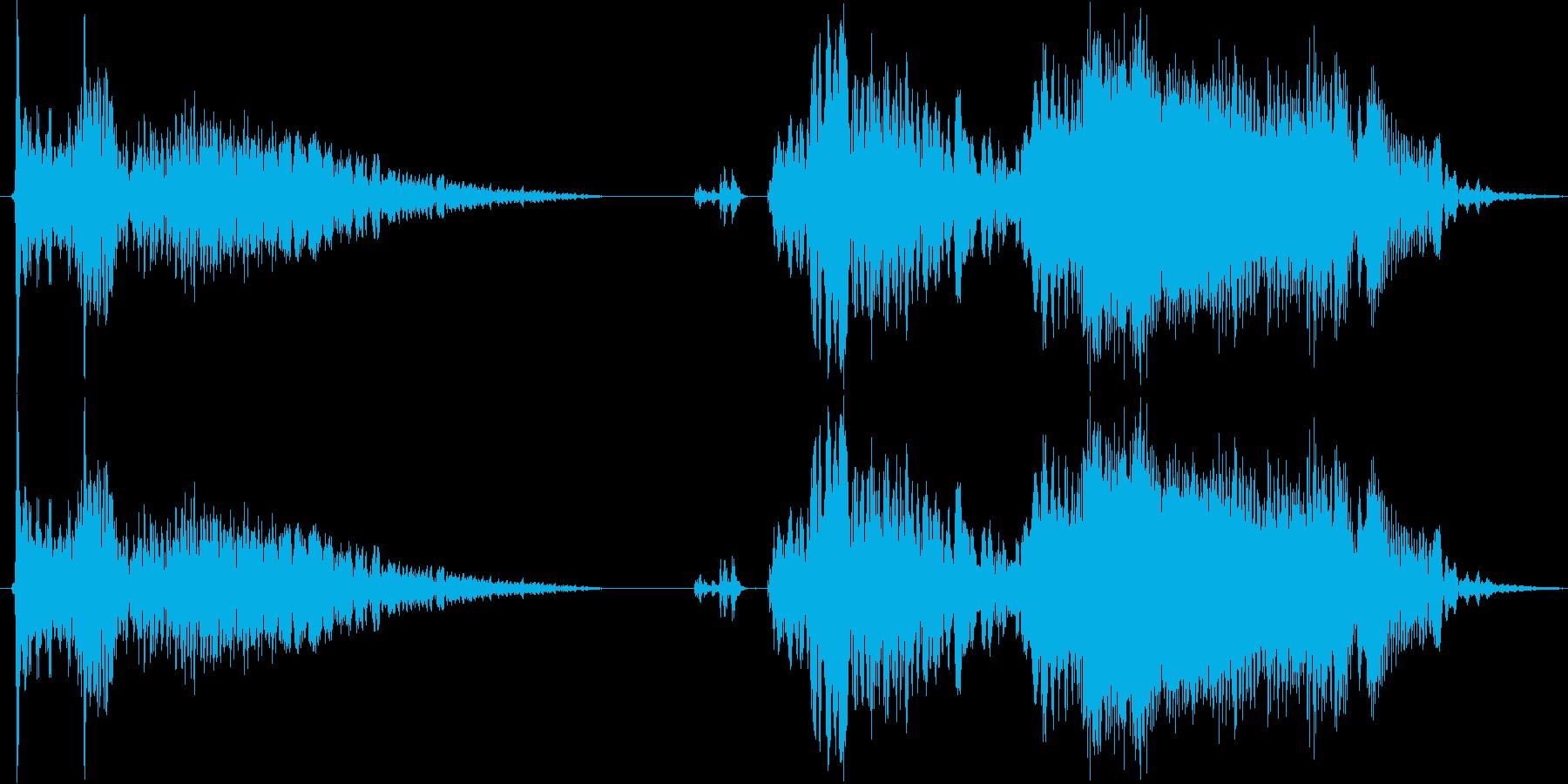 車 カースタート02の再生済みの波形
