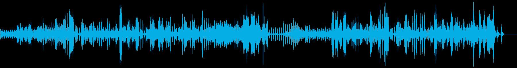 クラリネットとフルートの日常系コミカ劇伴の再生済みの波形
