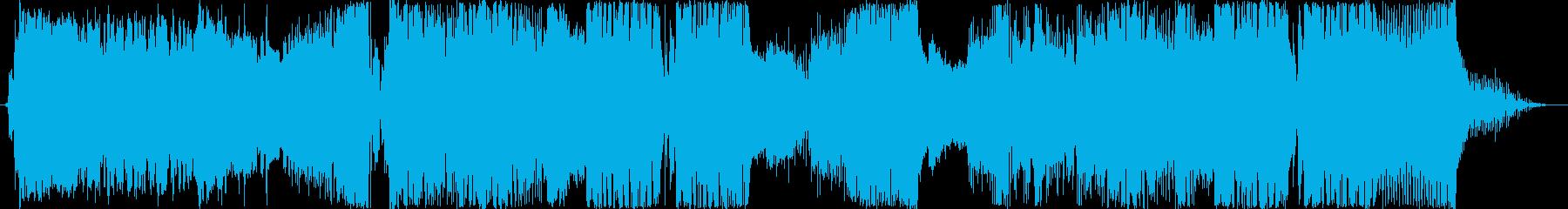 エモーショナルなメロディックダブステップの再生済みの波形
