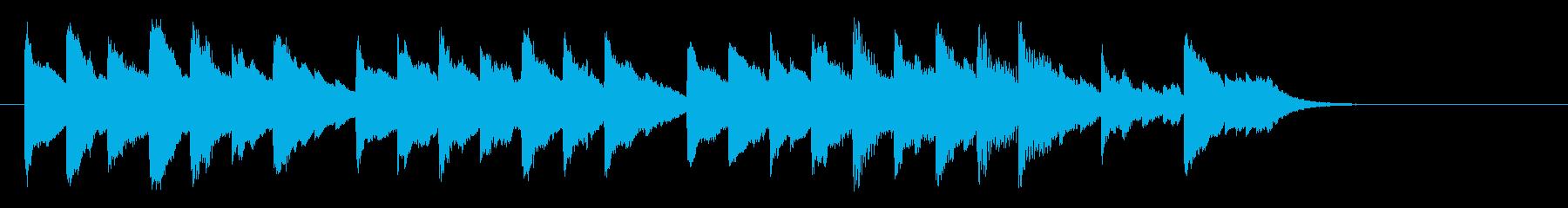 クリスマスをイメージした温かいジングルの再生済みの波形