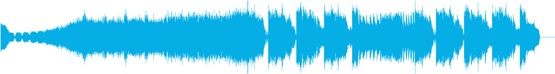 緊迫感のあるEDMの再生済みの波形