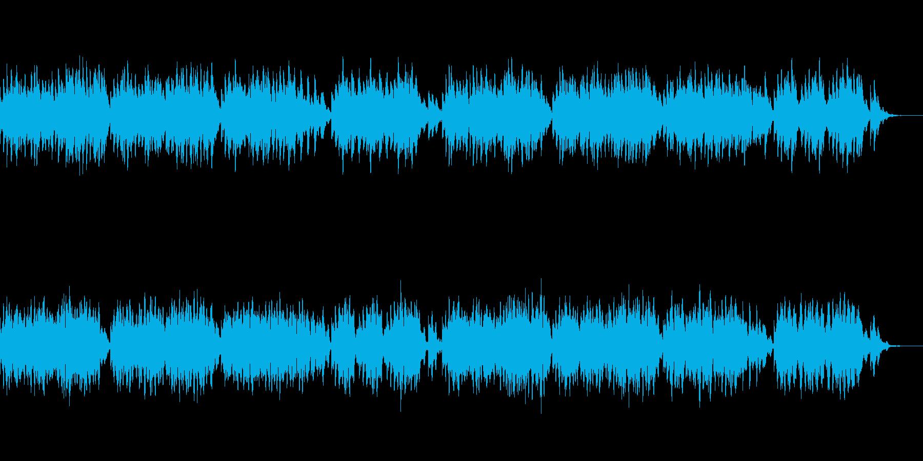 不気味と癒しを両立したホラーBGMの再生済みの波形