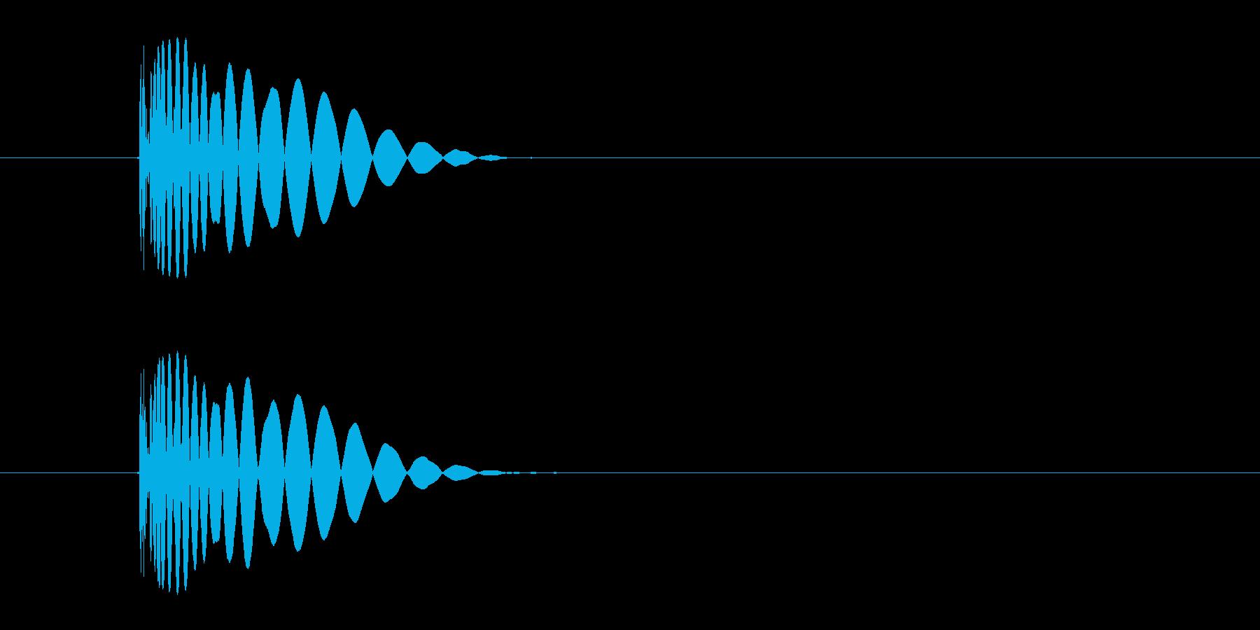 ヒット音(殴る 打撃のインパクト音)の再生済みの波形