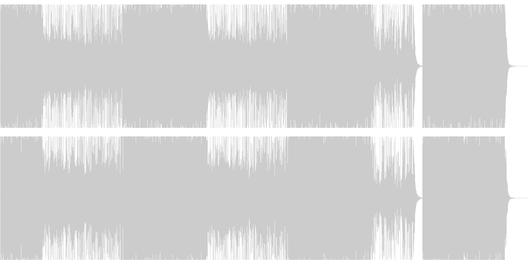 ヒップホップ/バイオリン/クランク808の未再生の波形