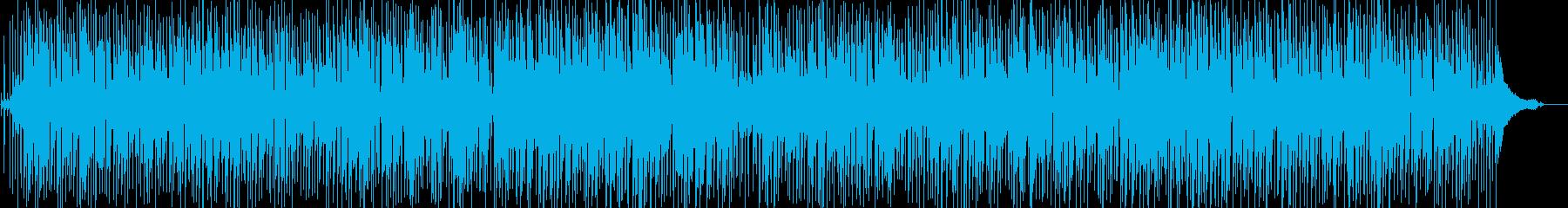 お洒落なクールジャズ(ピアノベースドラムの再生済みの波形