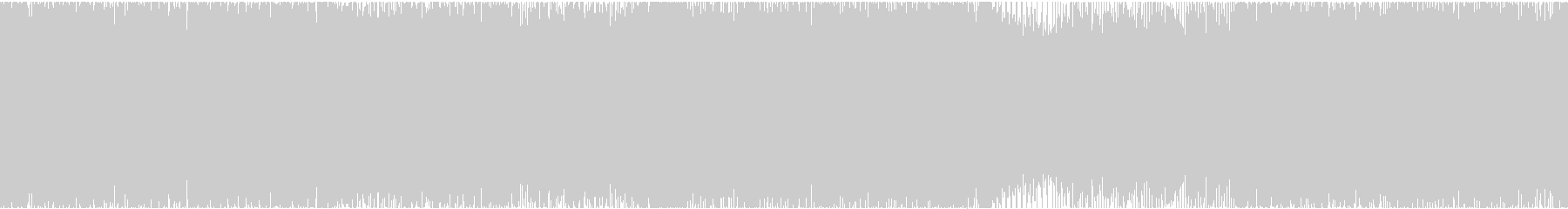 疾走感溢れるロックインストの未再生の波形