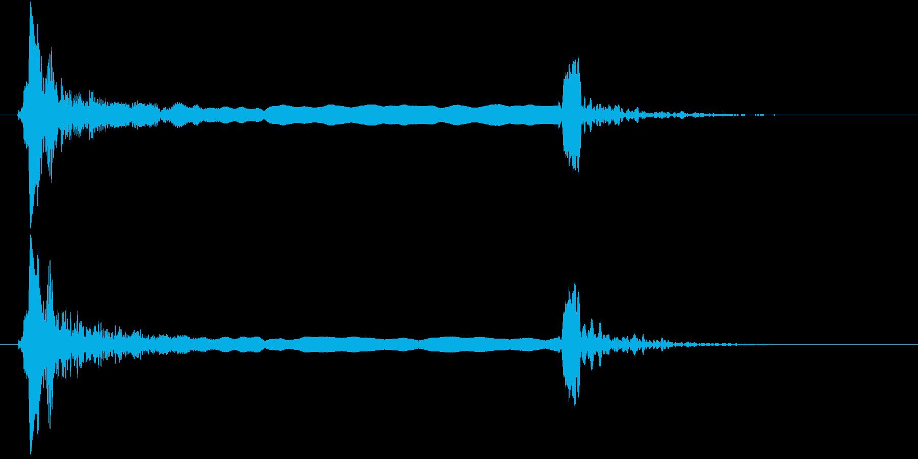 「ピィーピッ」能管ひしぎ、長め+リバーブの再生済みの波形