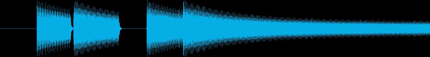 ゲーム(ゲームオーバー)の音の再生済みの波形