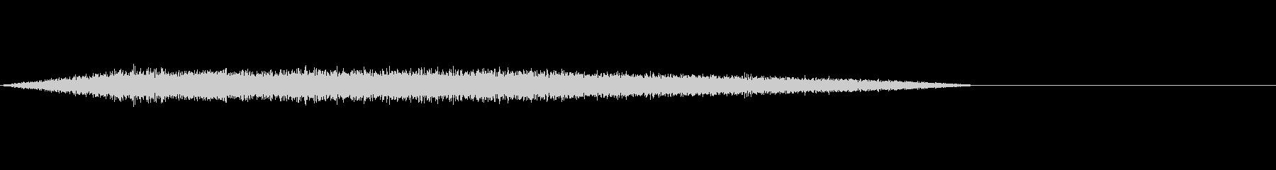 ゲームやアニメに良くある魔法詠唱の効果音の未再生の波形