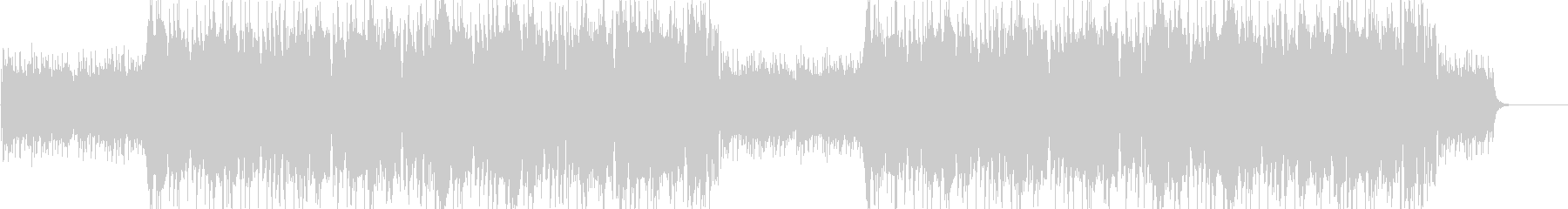 ハロウィン ホラー系ダブステップの未再生の波形