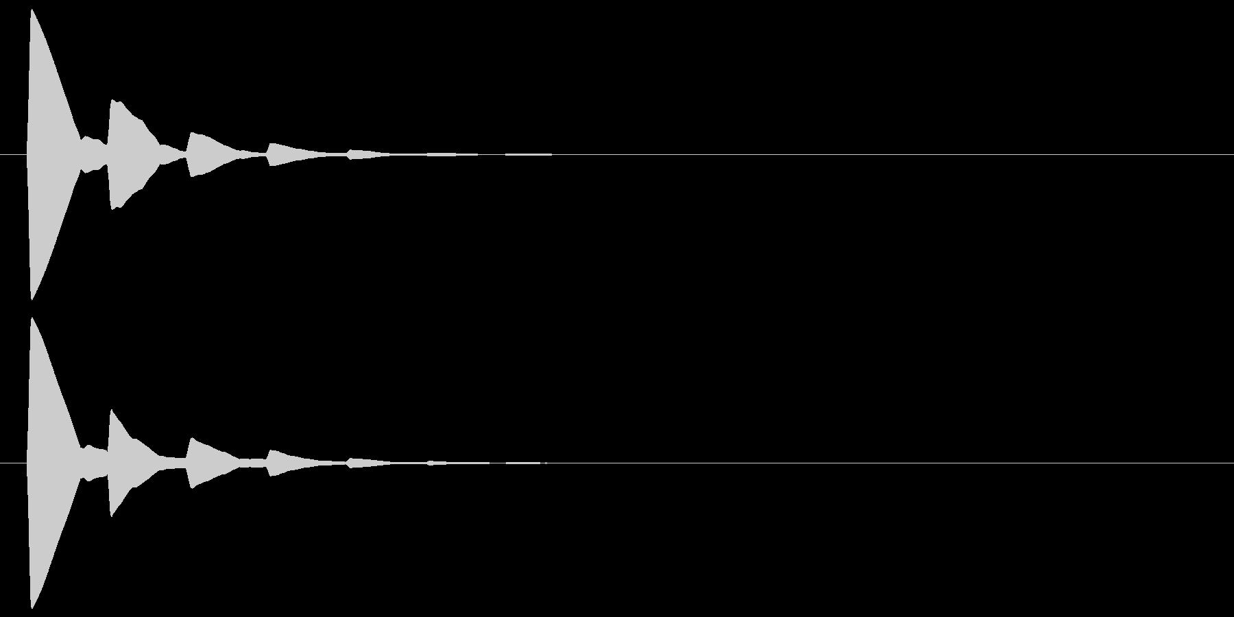 ピッ(カーソル、余韻有り) 03の未再生の波形