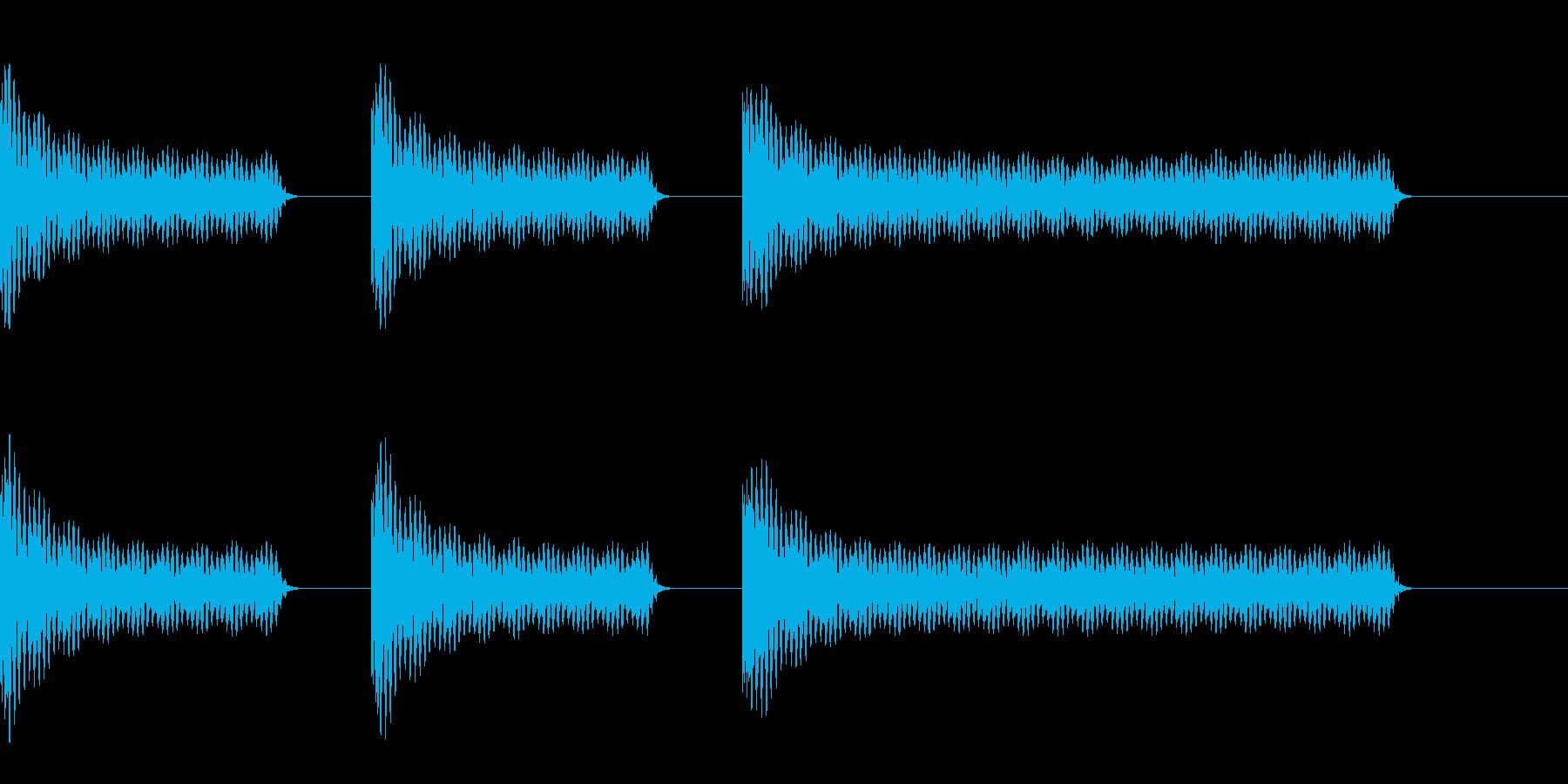 工事中のうるさいドリル音(短)の再生済みの波形