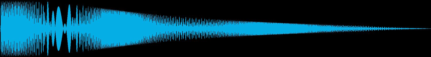 ボヨヨンと柔らかいものが揺れる04の再生済みの波形