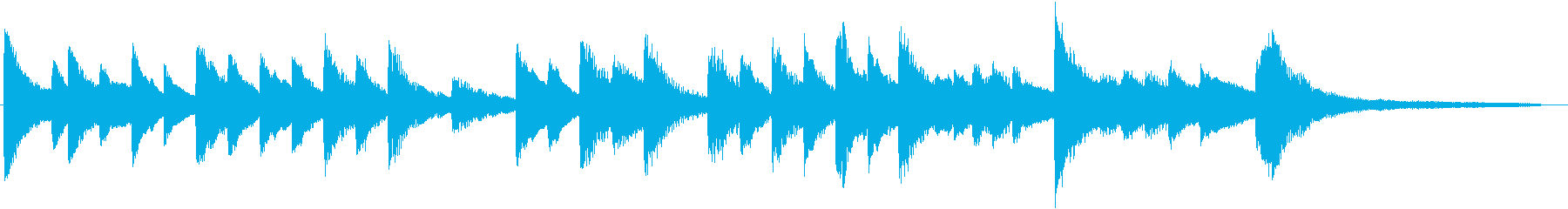 童謡・夕焼小焼モチーフのピアノジングルCの再生済みの波形