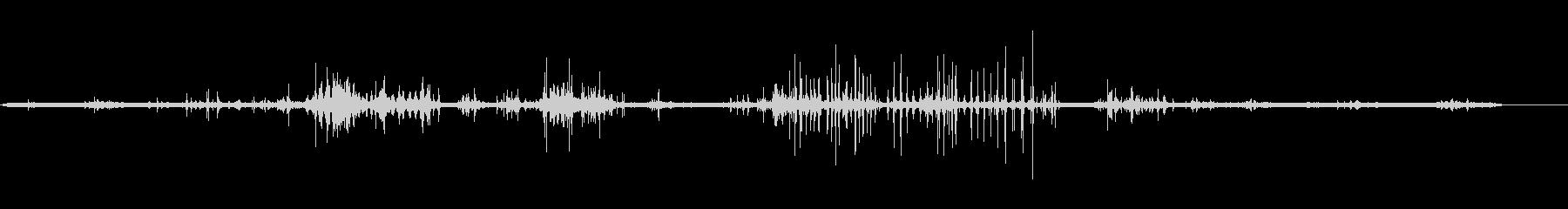 アナグマ-掘りの未再生の波形