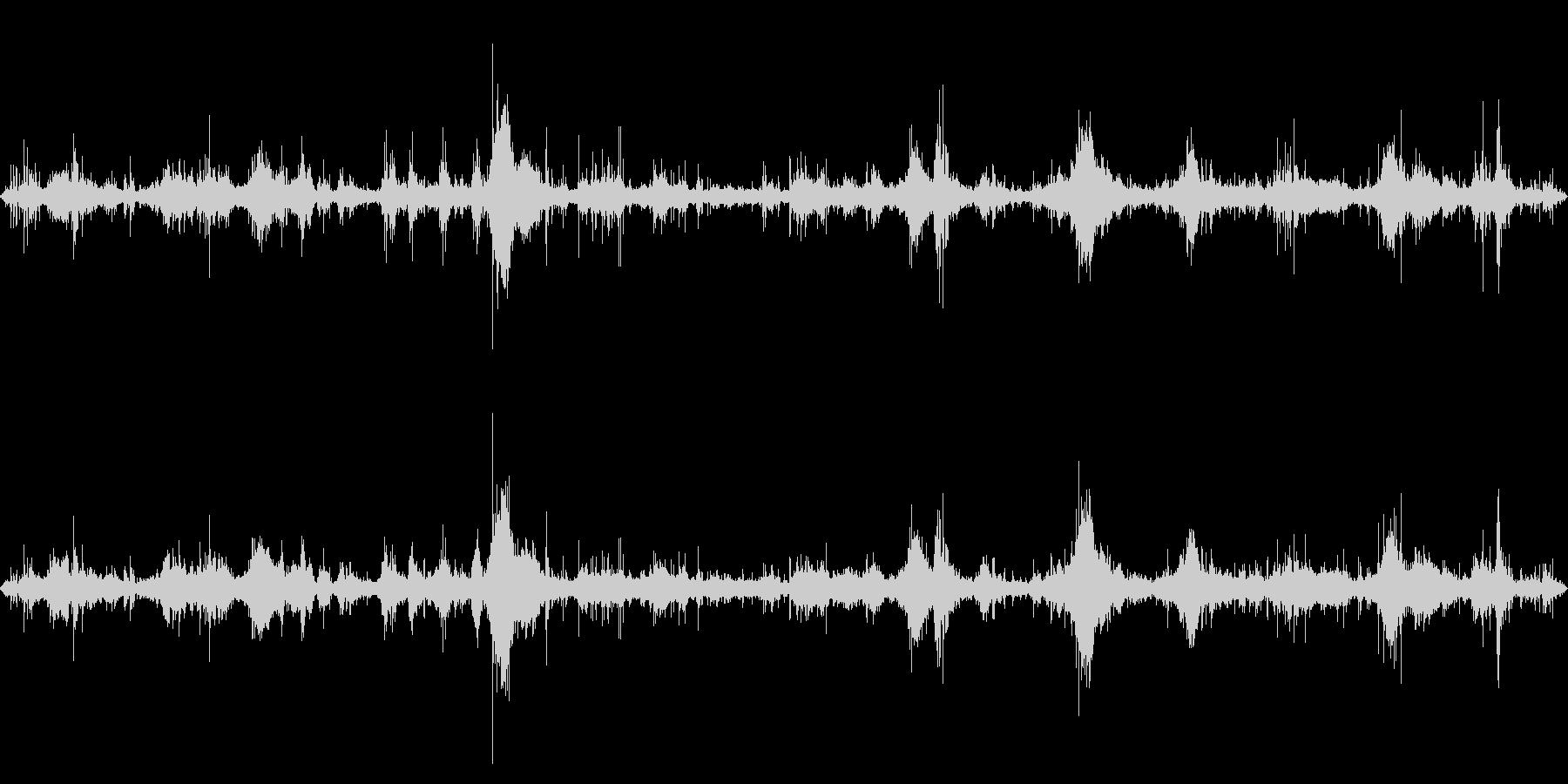 テトラポッド付近の波の音1の未再生の波形