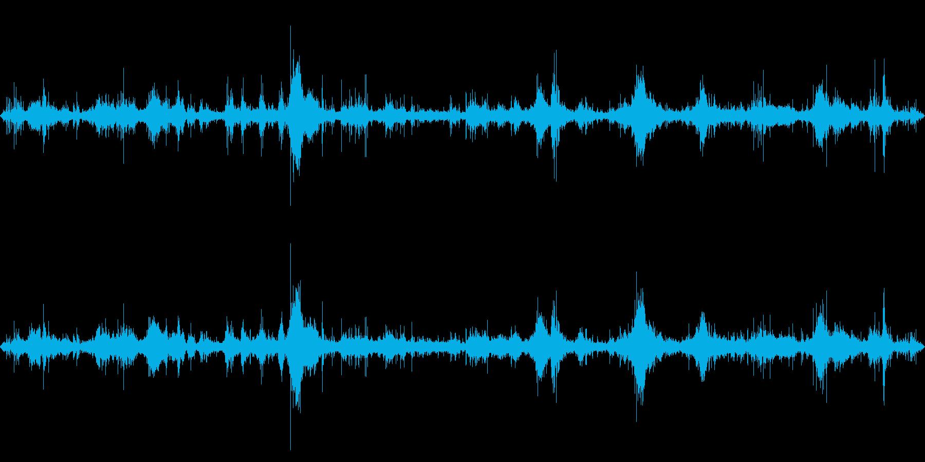 テトラポッド付近の波の音1の再生済みの波形