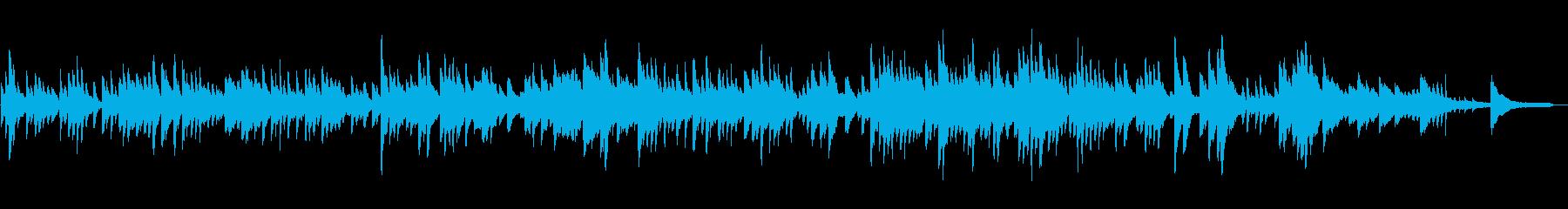 優しい雰囲気のヒーリング系ピアノソロの再生済みの波形