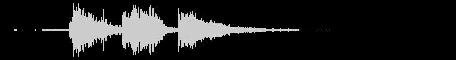 お洒落なSwing Jazz風ジングルの未再生の波形