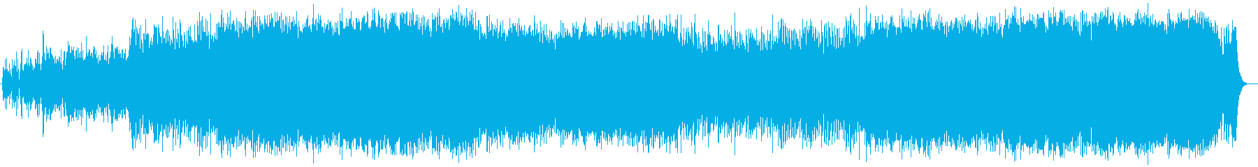 壮大で爽やかなシンセサイザーサウンドの再生済みの波形
