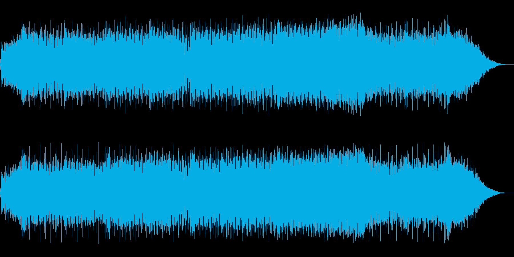 テクノ調の戦闘シーンの再生済みの波形