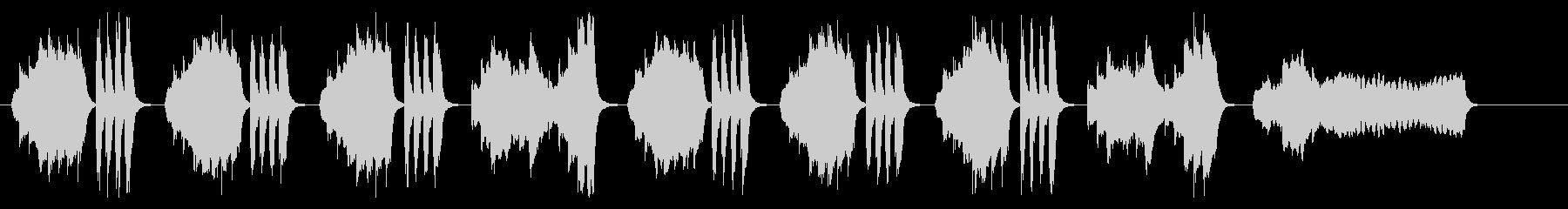 バイオリンの気だるげで退屈感のあるBGMの未再生の波形