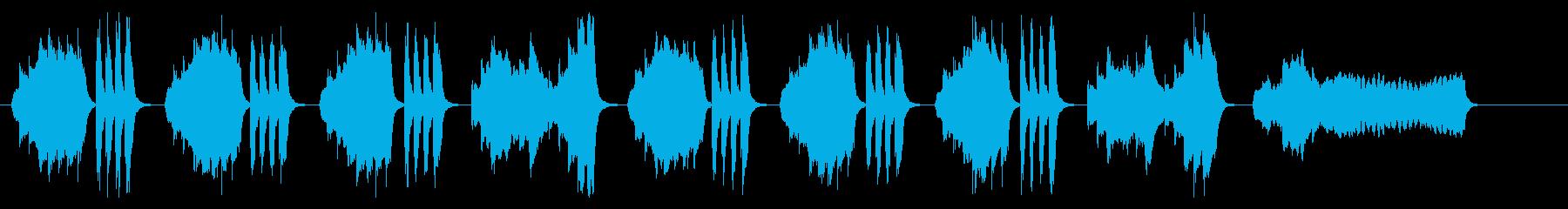 バイオリンの気だるげで退屈感のあるBGMの再生済みの波形