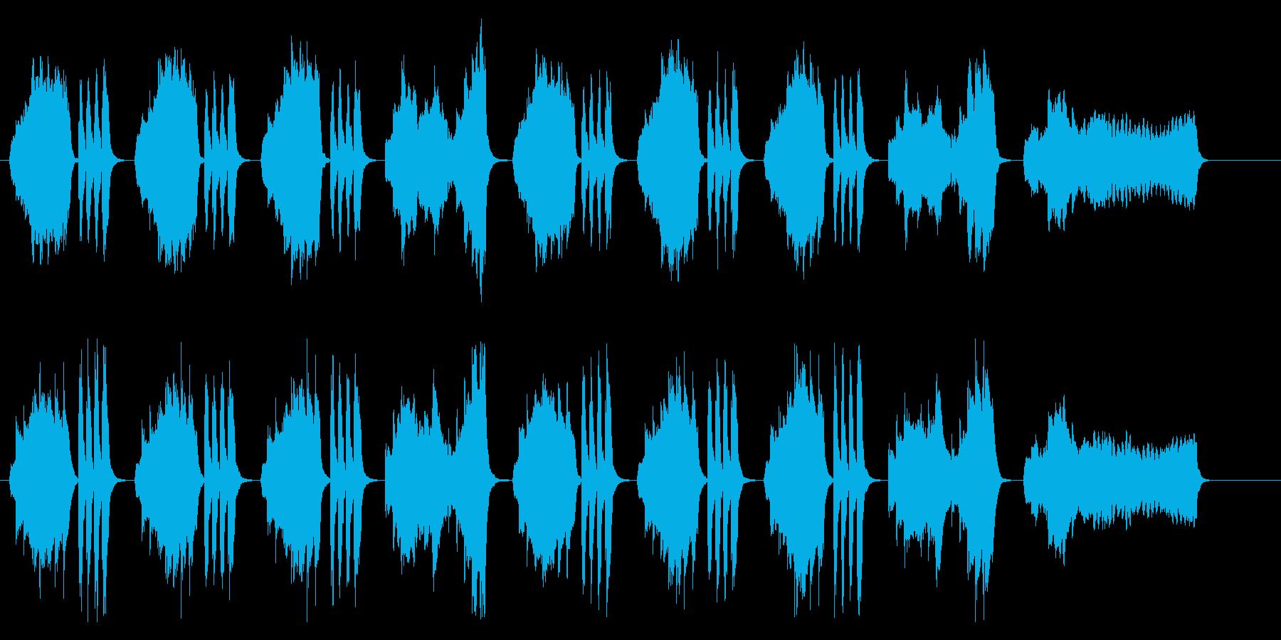 気だるげなバイオリンの退屈感あるBGMの再生済みの波形