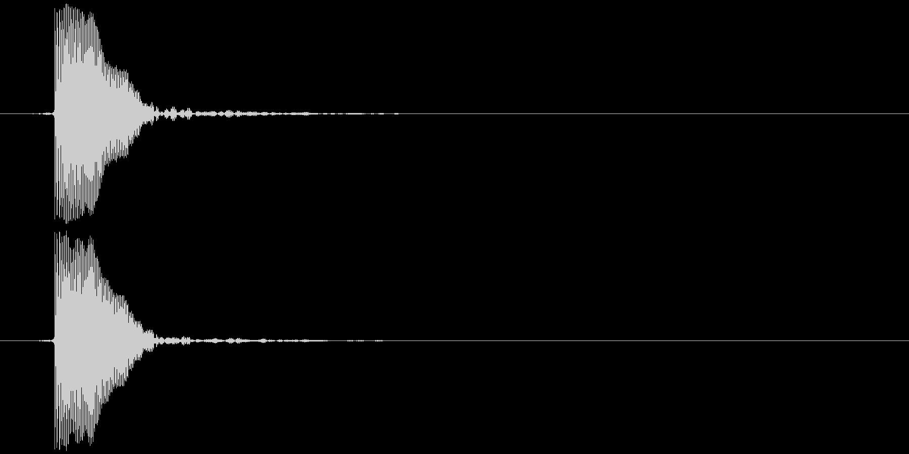 パッ (強め) テロップ音などの未再生の波形