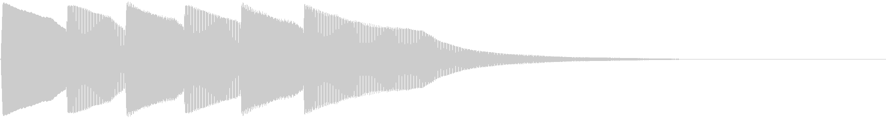 ピンポン×3回(クイズの正解音)の未再生の波形