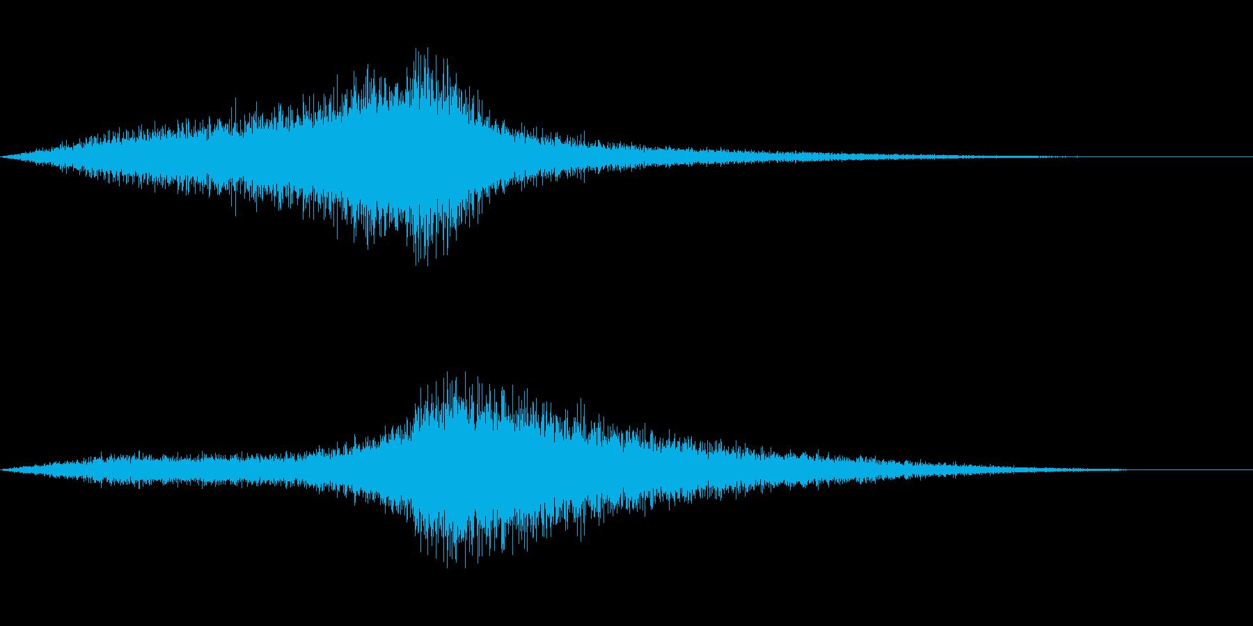 【生録音】 早朝の街 交通 環境音 5の再生済みの波形