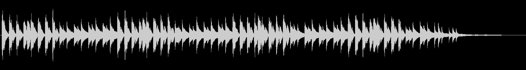 ホラー風ピアノBGMの未再生の波形