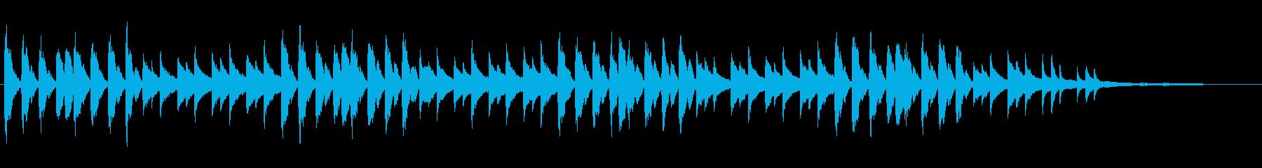 ホラー風ピアノBGMの再生済みの波形