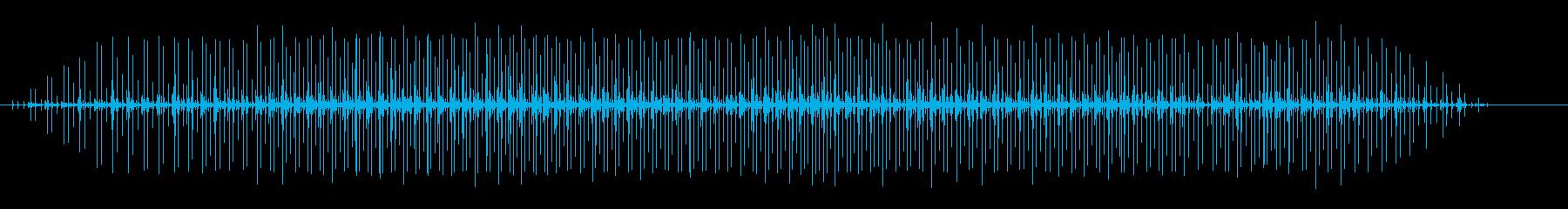 スピードバッグ:一定のパンチング、...の再生済みの波形