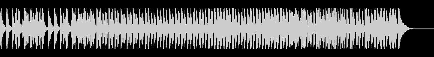 幸せなピアノソロの未再生の波形
