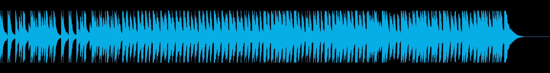 幸せなピアノソロの再生済みの波形