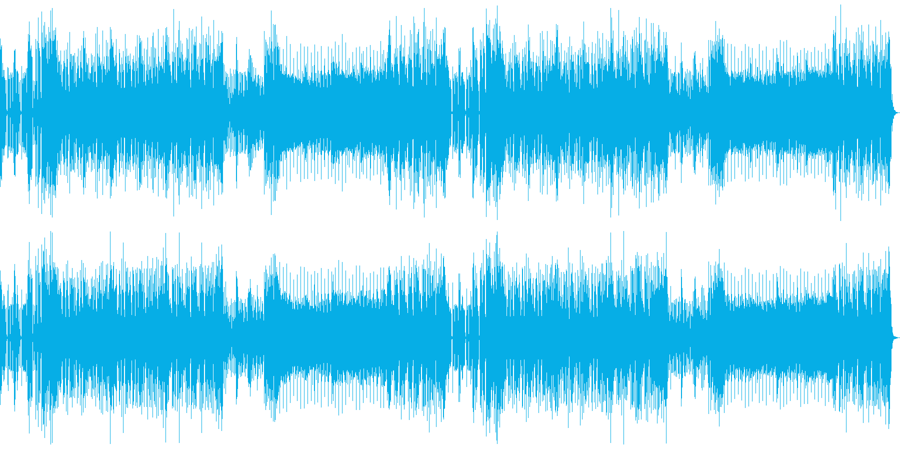 【ニュース系】クールでスムーズなBGMの再生済みの波形