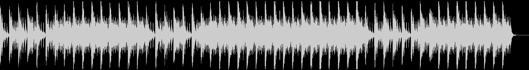 メロディとコードのシンプルなピアノ3の未再生の波形