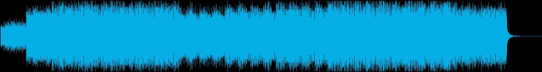 サイバーで速いテンポの緊迫したトランスの再生済みの波形