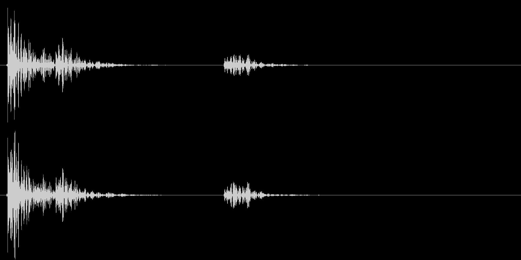 【生録音】お茶碗をテーブルに置く音 2の未再生の波形