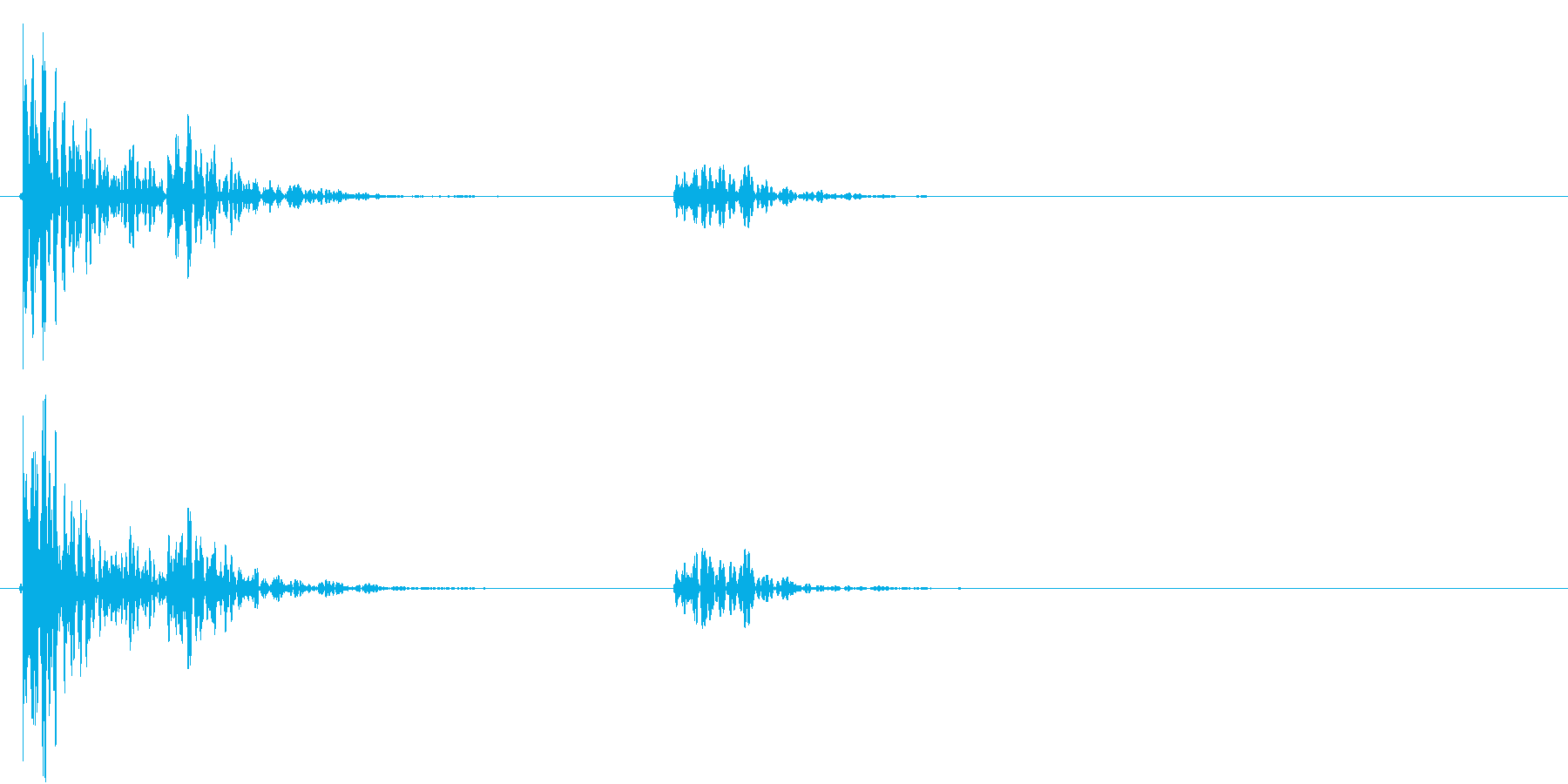 【生録音】お茶碗をテーブルに置く音 2の再生済みの波形