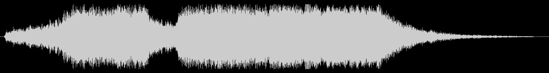 華やかなファンファーレの場面切り替えの未再生の波形