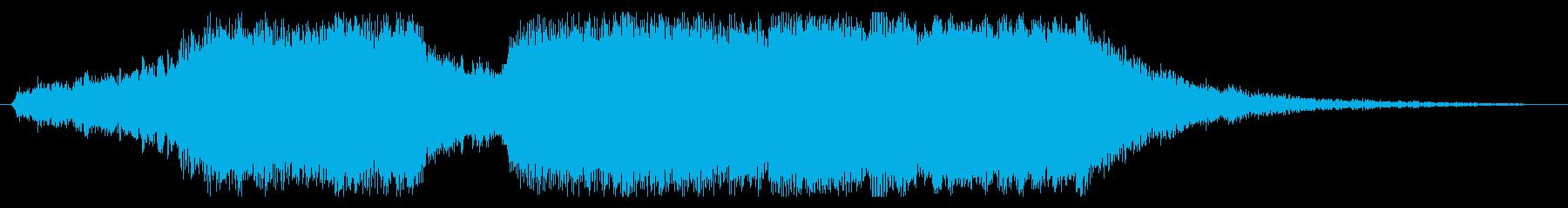 華やかなファンファーレの場面切り替えの再生済みの波形