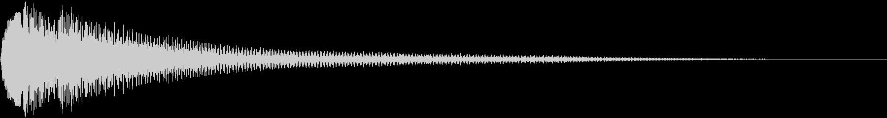ピコン(お洒落で優しいピアノの警告音)5の未再生の波形