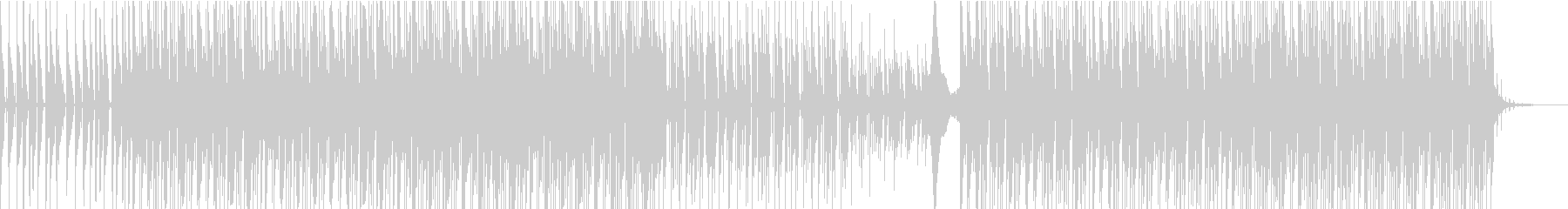 クールでゆったりとしたシンセトラックの未再生の波形