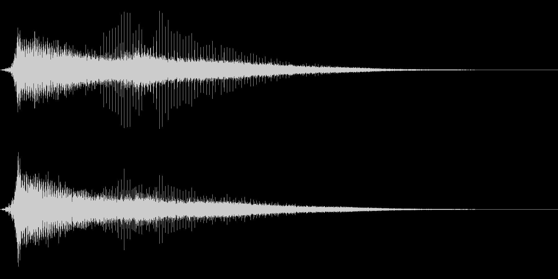 ホラー系アタック音77の未再生の波形