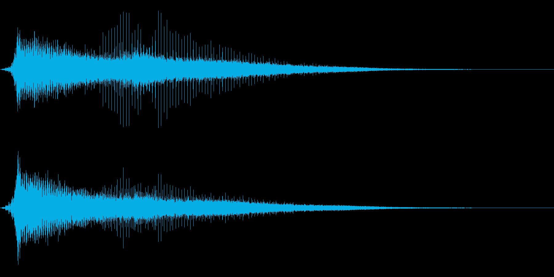 ホラー系アタック音77の再生済みの波形