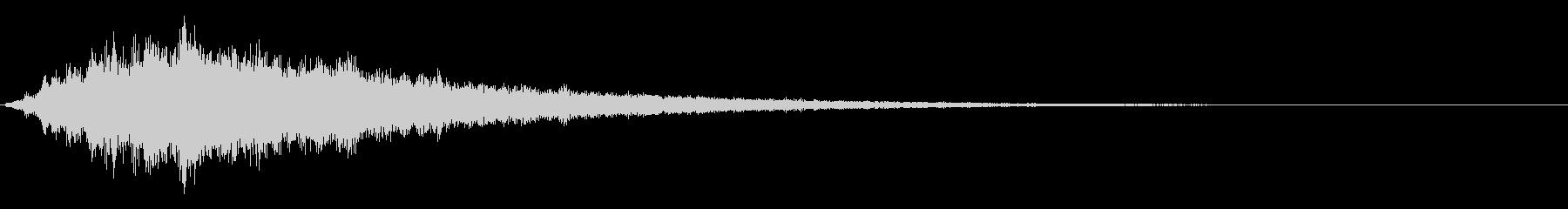 テロップなどで使えるかわいいアクセント音の未再生の波形